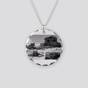 Temples of Tulum. Necklace Circle Charm
